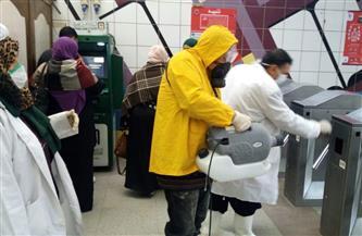 بعد ما نشرته بوابة الأهرام .. مترو الأنفاق يؤكد بالصور والفيديو عمليات التعقيم اليومي للقطارات