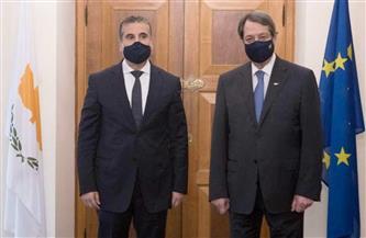 الرئيس القبرصي يتسلم أوراق اعتماد السفير المصري الجديد