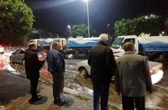 رئيس مياه القناة: كسح تجمعات الأمطار في مراحله الأخيرة واستمرار حالة الطوارئ | صور