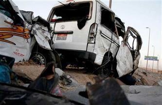 """مصرع عاملة و إصابة 9 أخريات فى تصادم """"ميكروباص و نقل"""""""