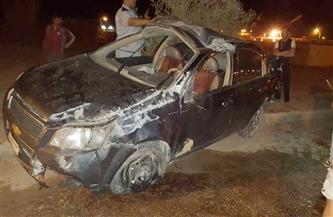 إصابة ٥ في حادث سيارة جنوب الأقصر
