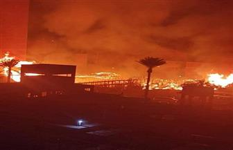 السيطرة على حريق ضخم بمصنع لإنتاج الكرتون بشبرا الخيمة| صور