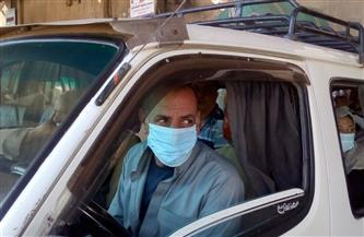 ضبط سيارتين مخالفتين لتطبيق الإجراءات الوقائية لمواجهة كورونا بالمنيا