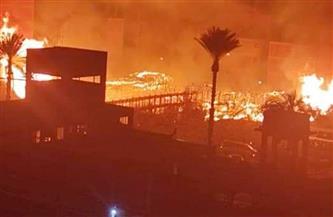 حريق هائل بمصنع غزل بقرية السالمية بكفر الشيخ