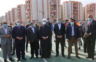 وزراء الشباب والأوقاف والتنمية المحلية ومحافظ القاهرة يتفقدون مركز شباب الأسمرات| صور