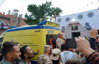 تشييع جثمان شهيد الواجب الوطني مصطفى محمد عبدالله في مسقط رأسه بالبحيرة |صور