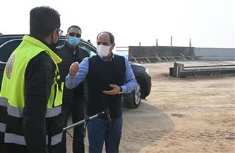 """الرئيس السيسي يؤكد ضرورة الالتزام بالجداول الزمنية للانتهاء من أعمال """"الدائرى الأوسطي""""  صور"""