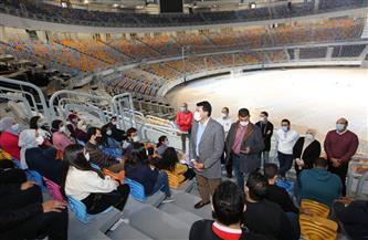 وزير الشباب يلتقي متطوعي مونديال اليد بإستاد القاهرة | صور