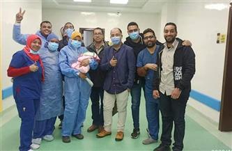 نجاح أول حالة ولادة قيصرية لمصابة بفيروس كورونا بالأقصر |صور
