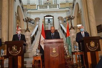 سامح شكرى: كافة التحركات السياسية و الدبلوماسية فى القضية الفلسطينية تسعى لإنفاذ حل الدولتين