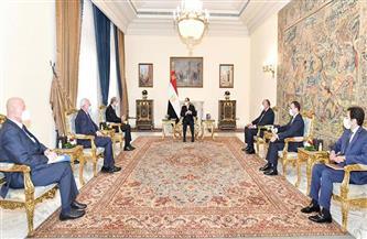 الرئيس السيسي: القضية الفلسطينية من ثوابت السياسة المصرية   صور
