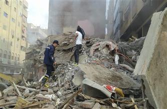 انتشال جثمان رجل من أسفل عقار الجمرك المنهار بالإسكندرية