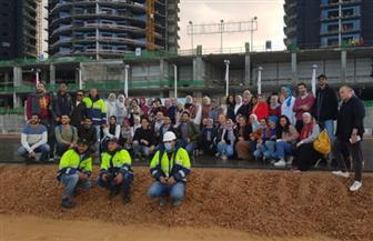 """أساتذة وطلاب الهندسة والفنون التطبيقية بجامعة القاهرة في زيارة لمشروعات """"العلمين الجديدة""""  صور"""