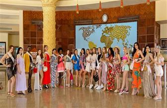 انبهار ملكات جمال العالم للسياحة والبيئة بأكبر الألعاب المائية في الغردقة  صور