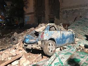 انتشال جثتين من أسفل عقار الإسكندرية المنهار والبحث عن 7 آخرين تحت الأنقاض