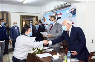 وزير القوي العاملة ومحافظ بورسعيد يسلمان 150 شهادة أمان و50 عقد عمل لذوي الاحتياجات الخاصة | صور