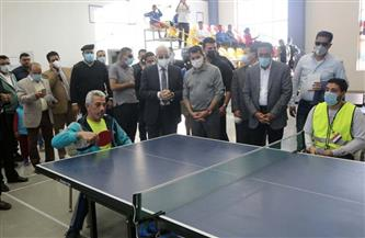 وزير الرياضة ومحافظا جنوب سيناء ومطروح يتابعون أولمبياد المحافظات الحدودية   صور