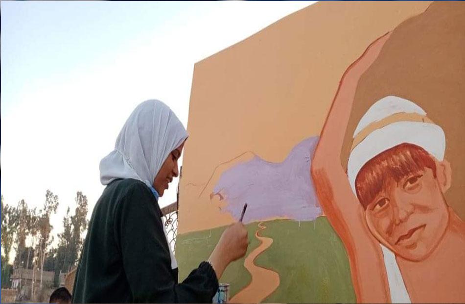 الانتهاء من جدارية عمالة الأطفال بمركز الوقف بقنا | صور