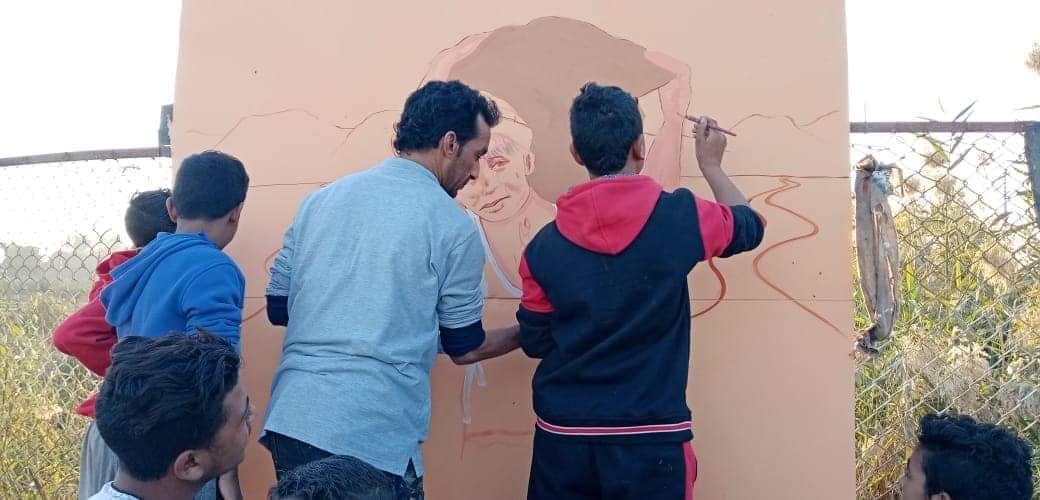 جدارية عمالة الأطفال