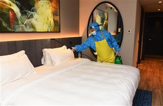 استمرار تعقيم غرف لاعبي الأهلي بفندق الإقامة في النيجر