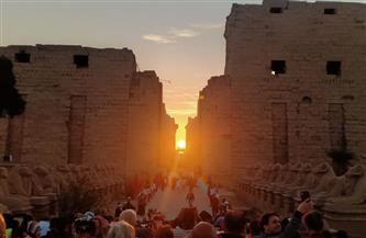 الشمس تتعامد على المحور الرئيسي لمعبد الكرنك | صور