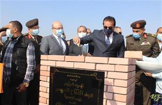 وزير التعليم العالي يضع حجر الأساس للجامعة الأهلية ببني سويف | صور