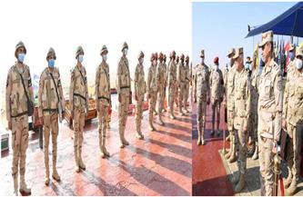 """رئيس الأركان يشهد المرحلة الرئيسية للمشروع التكتيكي بجنود """"صمود - 16"""" بالجيش الثالث الميداني"""