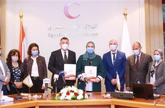بروتوكول تعاون بين الهلال الأحمر وجامعة عين شمس