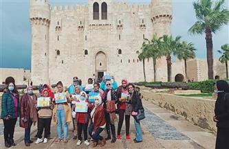 """""""السياحة والآثار"""" تنظم ورشا فنية لذوي القدرات الخاصة ومرضى السرطان بمدينة الإسكندرية"""