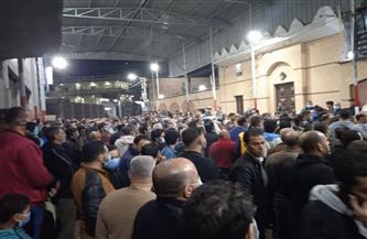 تشييع جثامين ٣ طلاب جامعيين لقوا مصرعهم في حادث تصادم على طريق الرحمانية دسوق صور