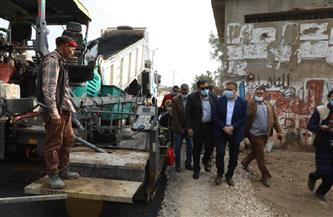 محافظ المنوفية يتابع رصف طريق (الباجور – القناطر الخيرية) بتكلفة 130 مليون جنيه | صور