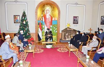 وزير الأوقاف ونظيره السوداني يهنئان قداسة البابا بأعياد الميلاد