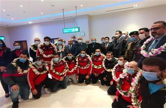 «صبحى» و«حطب» يستقبلان منتخب الجودو بمطار القاهرة | صور