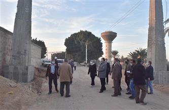 محافظ أسيوط يتفقد إنشاء بوابتي مدخل طريق الدير المحرق ورصف طريق كاروت| صور