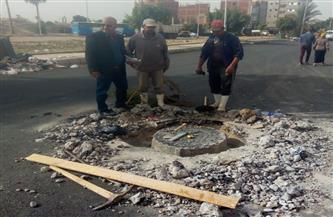رئيس مياه القناة: إصلاح كسر خط 300 مم فى الكيلو 17 جنوب بورسعيد | صور