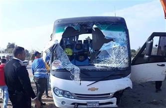 إصابة 12 طالبًا في حادث تصادم أتوبيس جامعي بسيارة على طريق جمصة بالدقهلية