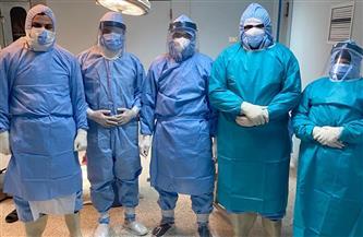 لأول مرة.. إجراء جراحة طارئة بالمخ وكسر بالجمجمة لمريض كورونا بمستشفى كفر الشيخ العام | صور