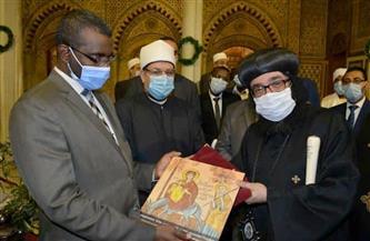 وزير الأوقاف ونظيره السوداني في زيارة لمجمع الأديان بالقاهرة | صور