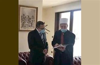 سفير مصر في تيرانا يستقبل رئيس المشيخة الإسلامية في ألبانيا