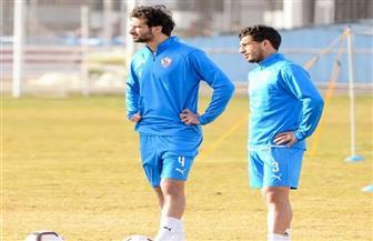 محمود علاء يشارك في مران الزمالك