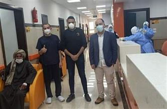 خروج 6 حالات تعافي من مستشفى العديسات للعزل بالأقصر