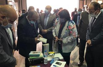 وزيرة الثقافة ومحافظ أسوان ورئيس جامعتها يفتتحون معرض الكتاب الأول | صور