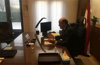 سفير مصر لدى هولندا يلقي محاضرة افتراضية عن نموذج محاكاة الأمم المتحدة | صور
