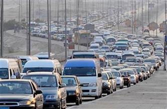 كثافات مرورية أعلى الدائري للقادم من أكتوبر اتجاه ميدان لبنان