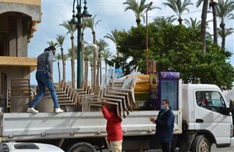 حملة على المحال غير الملتزمة بالإجراءات الاحترازية بالمنتزه شرق الإسكندرية | صور