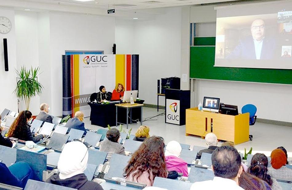 ندوة نقاشية افتراضية عبر شبكة الأنترنت webinar، نظمتها الجامعة الألمانية بالقاهرة