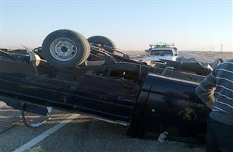 مصرع ضابط وإصابة فرد أمن في حادث انقلاب سيارة شرطة بمركز الغنايم