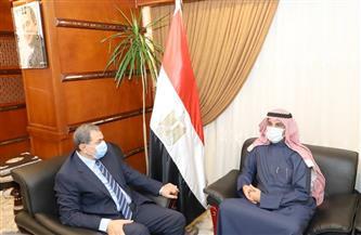 """""""سعفان"""" و""""المطيري"""" يبحثان عدة سيناريوهات لعقد مؤتمر العمل العربي المقبل  صور"""