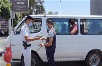 تحرير مخالفات لـ8164 سائق نقل جماعي لعدم ارتداء الكمامة