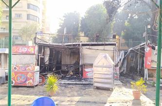 نقيب مهندسي القاهرة يكشف خسائر حريق نادي المهندسين بالزمالك| صور